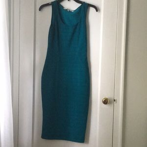 $30 Rachel Roy turquoise slim dress